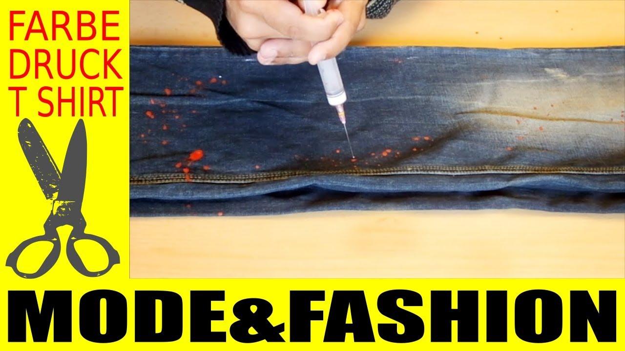 jeans hose selber aufpeppen farbe flecken technik youtube. Black Bedroom Furniture Sets. Home Design Ideas