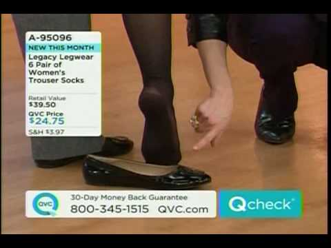 ANGELA QVC MODEL PANTYHOSE KNEE HIGH FOOT FETISH
