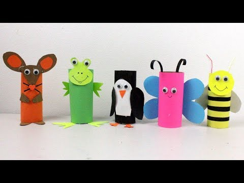 5 Easy Paper Roll Crafts |Cute Animals Toys for Kids To Do At Home