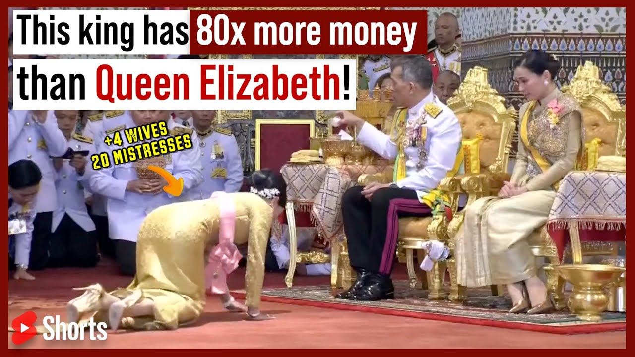 This King Has 80x More Money Than Queen Elizabeth! #Shorts