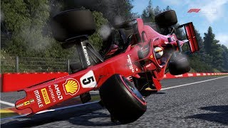 F1 2018 - Crash Compilation (PC HD) [1080p60FPS]