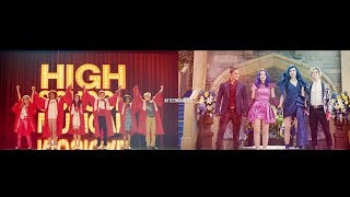High School Musical 3 & Descendants 3 Similar Moments (Compilation Full HD)