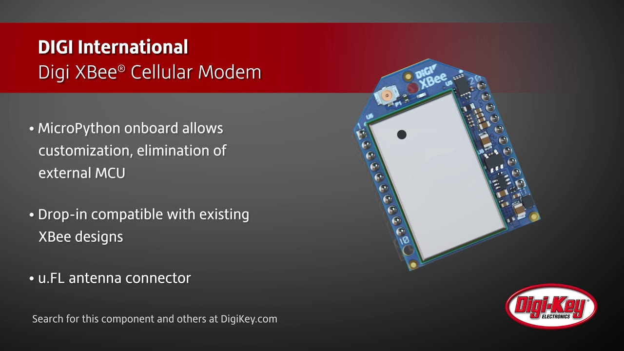 Digi International Digi XBee Cellular Modem | Digi-Key Daily