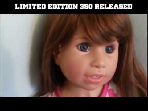 (SOLD) CHILD SIZE DOLL details & review/ Darcy-Masterpiece Galleries by Monika Peter-Leicht