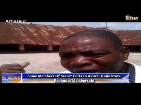 Some members of secret cults in Akure renounce membership