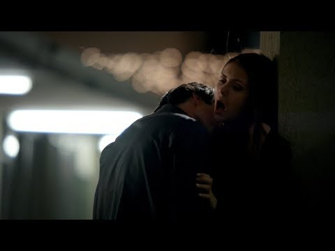 The Vampire Diaries: Elena and Damon motel kiss/make out (3x19) [HD]