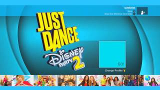 Just Dance Disney Party 2 Title Screen (X1, X360, Wii, Wii U)