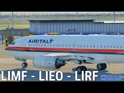 AIR ITALY OPS || Torino - Olbia - Roma [ITA] || B737-700U +ASXP+ORTHO4P ||XPLANE 11||