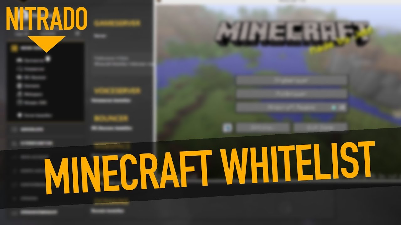 Minecraft Server Mit Whitelist Sichern Nitrado Tutorial YouTube - Nitrado minecraft server whitelist erstellen