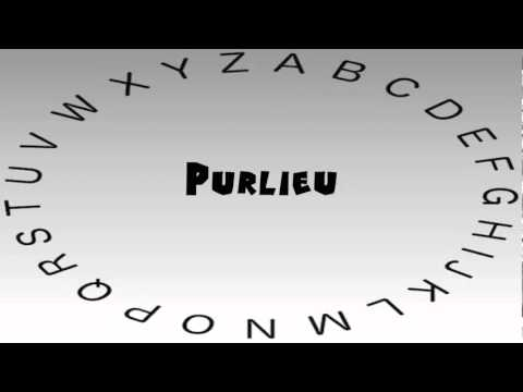 How to Say or Pronounce Purlieu