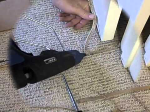 Berber Carpet Repair Using The Pam Glue Gun A Creative