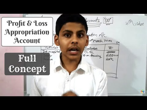 Video #4 | Chapter 1 | Accounting | partnership | Concept | P and L appropriation account | 12th