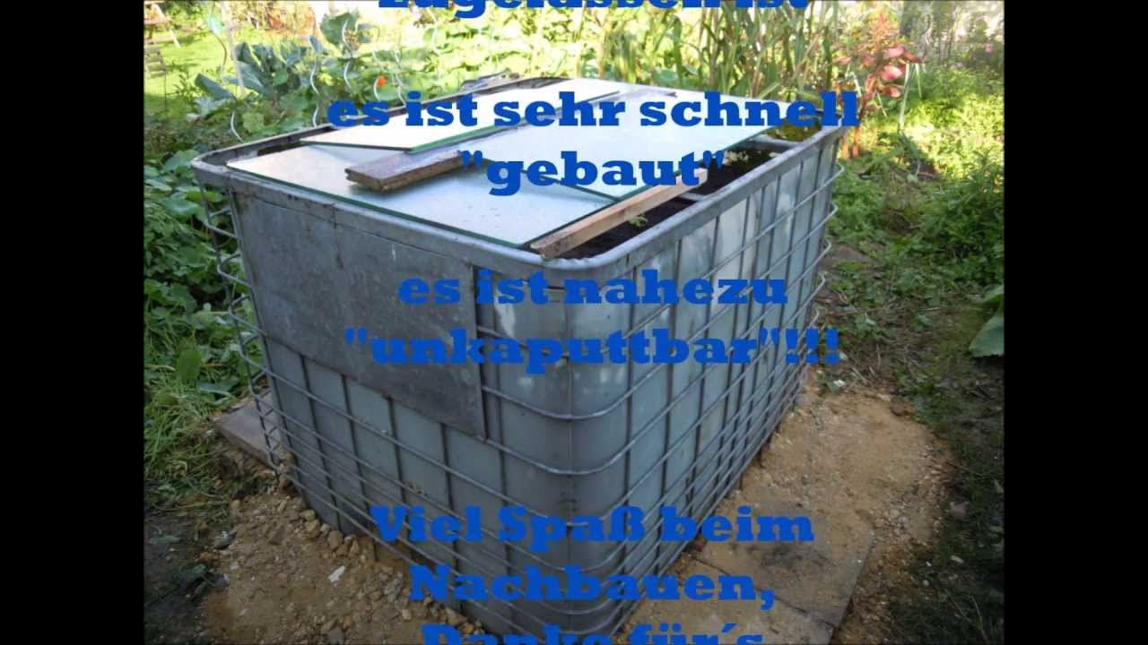 garten hochbeet aus einem ibc 1000 liter container youtube. Black Bedroom Furniture Sets. Home Design Ideas