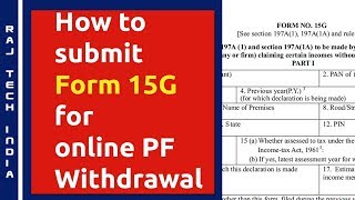 Latest Form 15g Pdf