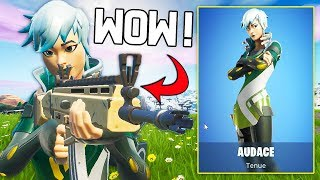 I'm ABLE to IMBATTABLE THANKS TO NEW skin ''AUDACE'' ON FORTNITE!