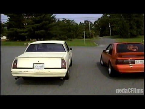 G-body SS vs Fox-body 5.0 Mustang (throwback street race)