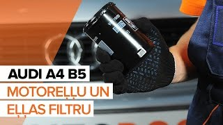 Eļļas filtrs montāža AUDI A4: video pamācības