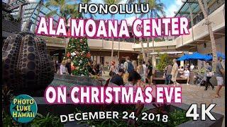 Ala Moana Center on Christmas Eve 12/24/2018