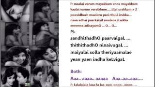 Engirundho aasaigaL Karaoke with Lyrics For Male Singers by HamsaPriya (30/10/ 16)