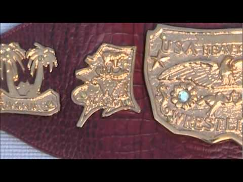 REAL NWA Mid Atlantic CAST United States Heavyweight Championship Title Belt