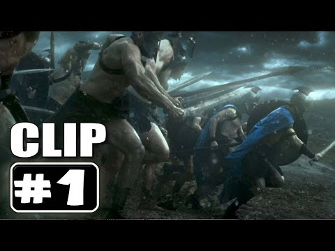 """300 RISE OF AN EMPIRE Movie Clip # 1 """"Themistokles Battle"""""""