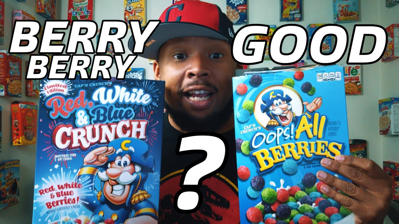 Red White And Blue Crunch Vs Oops All Berries Review Youtube Overflowing with red, blue, green and purple pieces, it's never been tastier to snack. red white and blue crunch vs oops all berries review