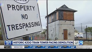 Effort to move 1914 train tower before demolition