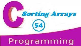 C programming video tutorial - sorting arrays using bubble sort