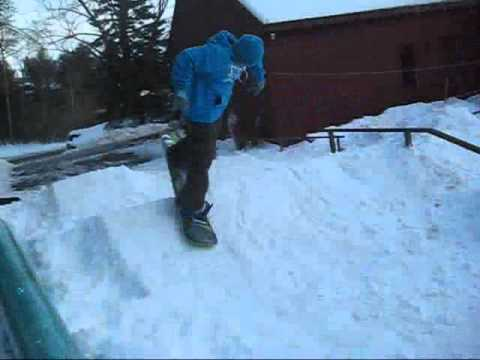 Attrayant Backyard Snowboarding