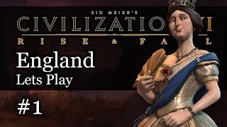 #1 England Deity - Civ 6 Rise & Fall Gameplay, Let