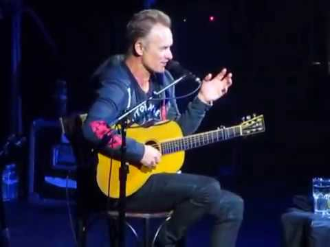 Sting explains the writing of and performs Empty Chair at the Hollywood Palladium 2-10-17.