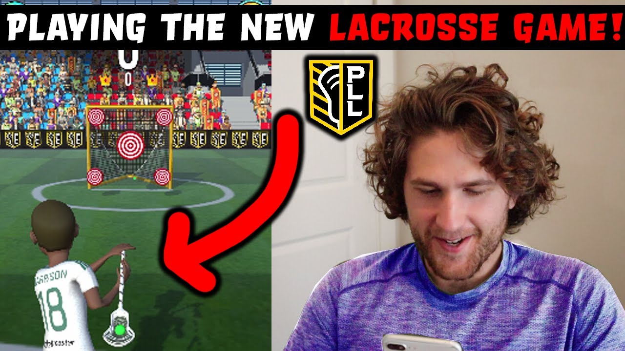 Playing the NEW PLL LACROSSE VIDEO GAME, a breakdown