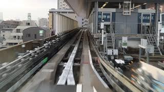 【ライナー】日暮里・舎人ライナー上り前面展望(4倍速Ver.) Nippori-Toneri Liner frontview
