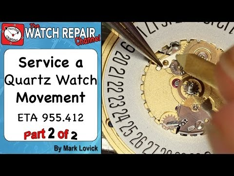 How to service a quartz movement. Part 2. Assembly. ETA 955.412