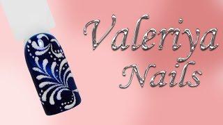 Дизайн ногтей гель-лаком♥ Кошачий глаз♥Вензеля♥ Valeriya Nails