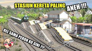 STASIUN KERETA PALING ANEH !! VERSI TRAINZ SIMULATOR INDONESIA