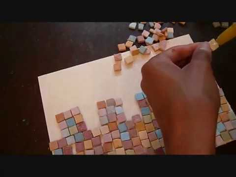 יצירת כותל מאבני פסיפס