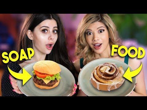Real Food vs Soap TASTE TEST CHALLENGE w/ Azzyland
