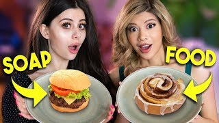 Real Food vs Soap TASTE TEST CHALLENGE w/ Azzyland