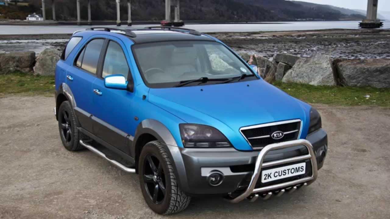 Kia Sorento Full Car Wrap In Matt Blue Aluminium At 2k