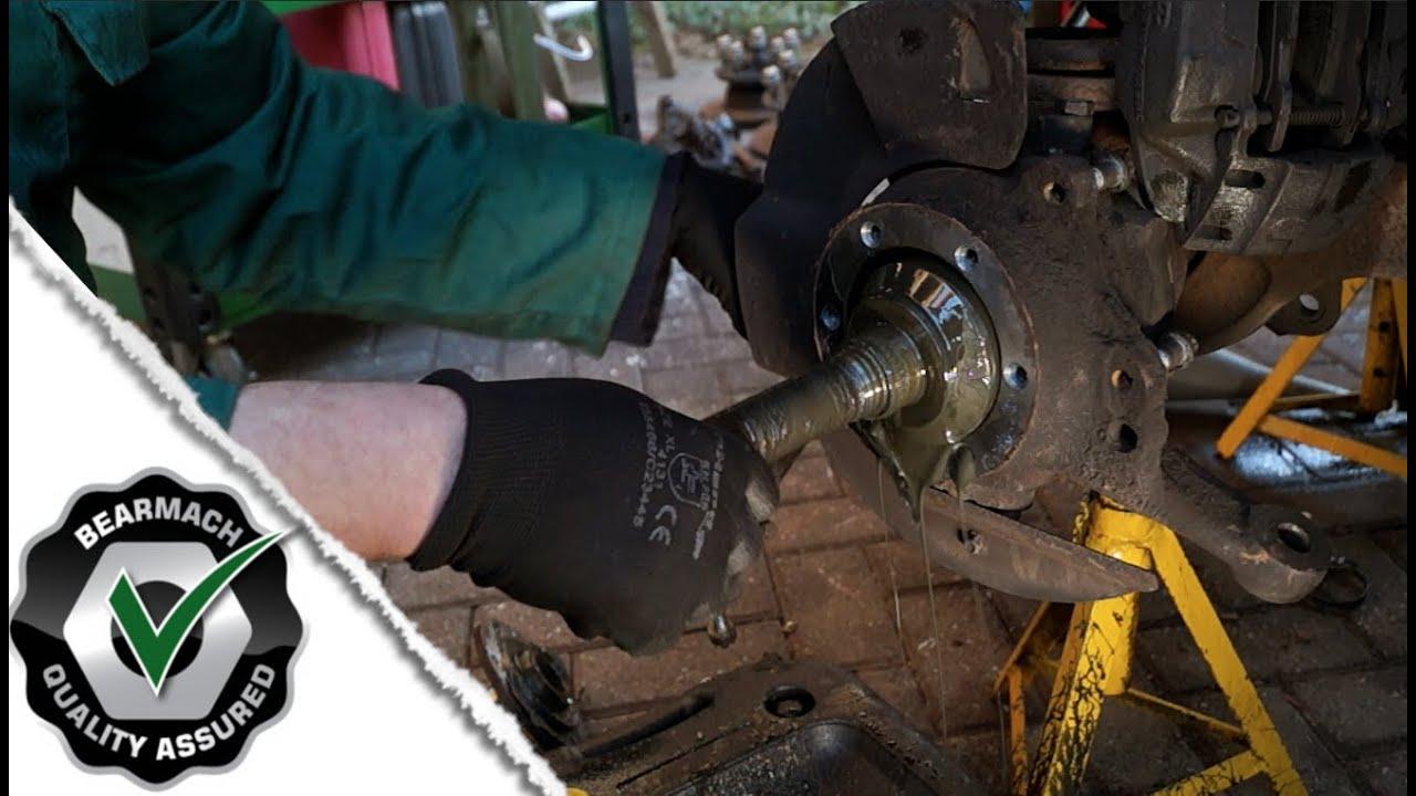 how to change 97 sidekick front wheel bearing