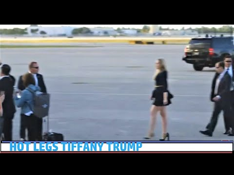 TRUMP Lands in Palm Beach...Hot!! Tiffany Trump in a Mini- Skirt