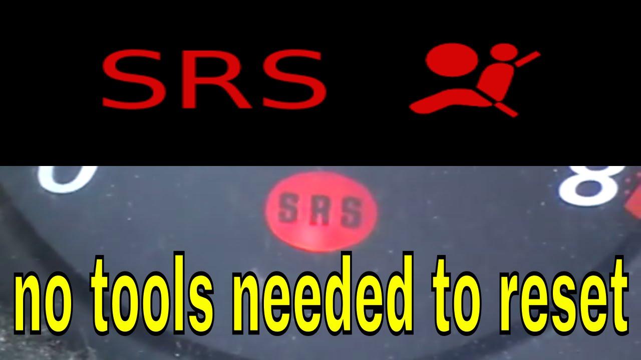 How to reset or turn off honda CRV SRS airbag light  YouTube