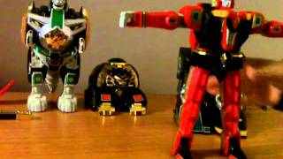 How To Make The True Thunder DragonZord Megazord + The Ninja DragonZord Megazord