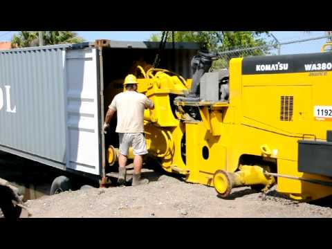 Dismantling & Containerization of Komatsu WA380 Loader Big Iron, Inc. in Jacksonville, FL