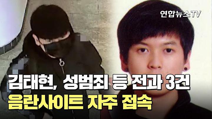 김태현, 성범죄 등 전과 3건…음란사이트 자주 접속 / 연합뉴스TV (YonhapnewsTV)