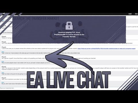 FIFA 18 WEB APP Transfer Market LOCKED EA LIVE CHAT