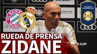 Bayern - Real Madrid   Rueda de prensa previa de Zidane en la ICC   Diario AS
