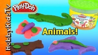 PLAY-DOH Animal Activities Bucket [Box Opening] [Toy review] [COW] [Alligator] [Dolphin]