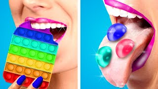 How To SNEAK CANDY Into CLASS! Crazy Food Sneaking Ideas Anywhere You Go By KABOOM!